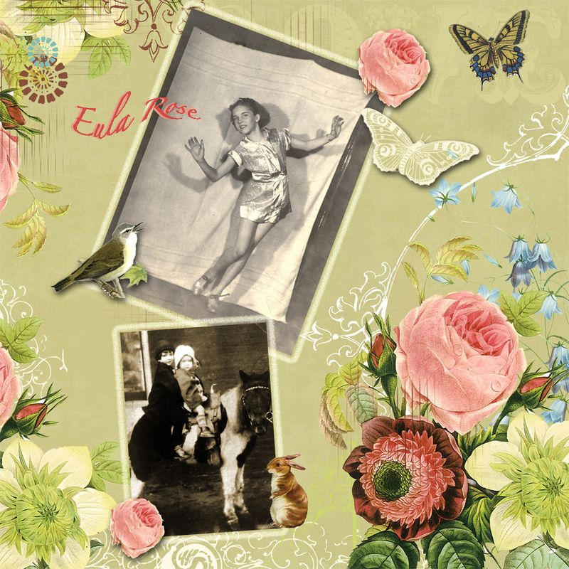 Mom Scrapbook Pg Rose