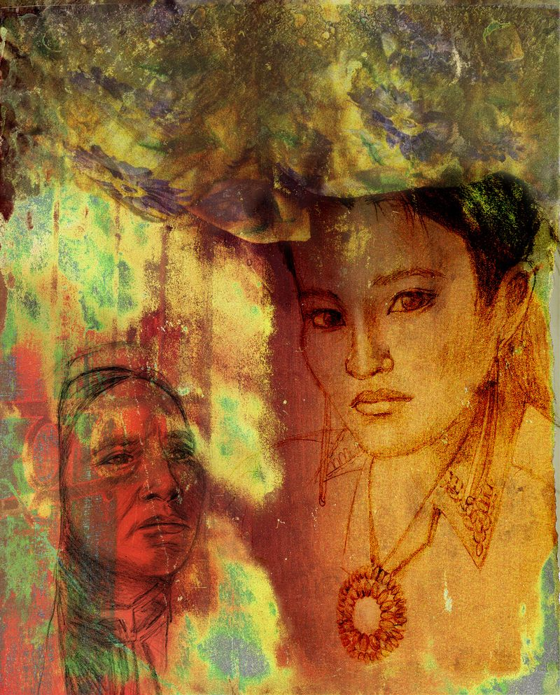 Texture 7 Collage w-Navaho Girl crop copy